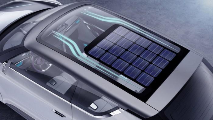 panouri solare plafon masina